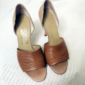 Salvatore Ferragamo Brown Women Shoes Size 8B